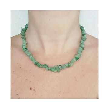 Colar Pedra Quartzo Verde/Aventurina