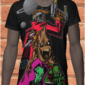 camiseta sublimacao guardioes da galaxia 222
