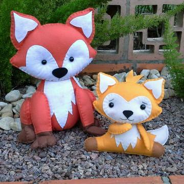 Kit Raposa e raposinha de feltro