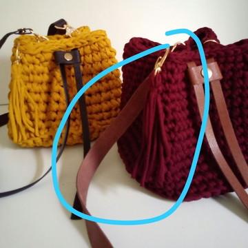 Kit Alças de couro para bolsa saco