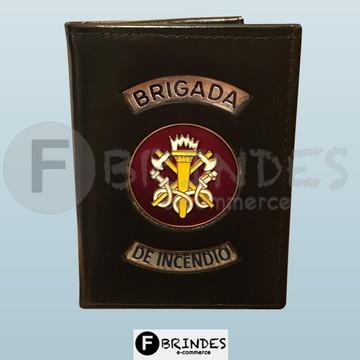 Carteira porta funcional Brigada de Incêndio (preta)
