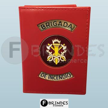 Carteira porta funcional Brigada de Incêndio (vermelha)