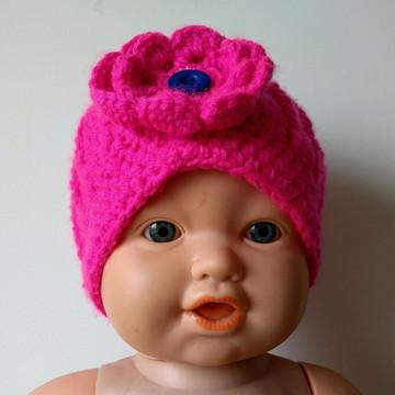 Gorro/ Touca Infantil (6 m a 2 anos) Feminino Crochê