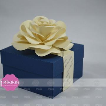 #0321- Molde para caixa de sabonete com rosa em 3D