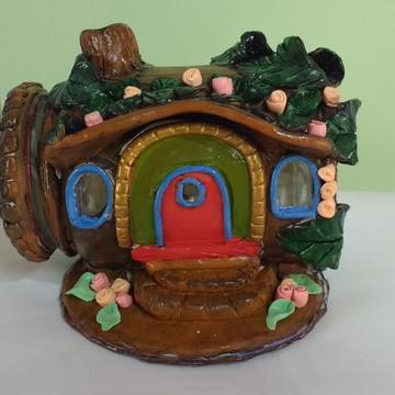 Casa de fada em biscuit