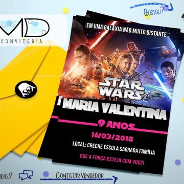 Convites Festa Star Wars