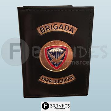 Carteira porta funcional Brigada Paraquedista (preta)