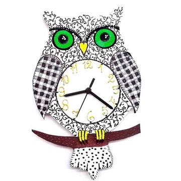 Relógio Coruja - Mimos para casa da mãe coruja