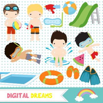 Kit Digital Festa na Piscina Menino 1