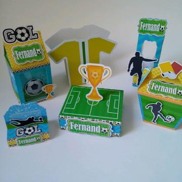 kit festa infantil personalizada futebol