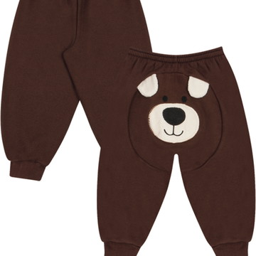 a69c0c1be9 Calça Infantil Moletom Urso - Para bebês