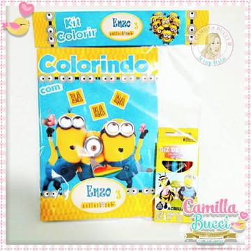 Kit Colorir Minions