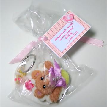 Lembrancinha Chaveiro Ursinho Biscuit