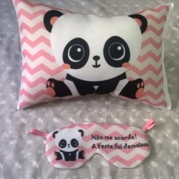 Kit Almofada e Máscara Panda