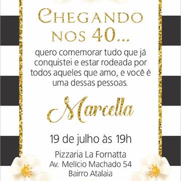 Convite Aniversário Adulto Elo7