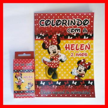 Kit de Colorir com Giz de Cera Minnie