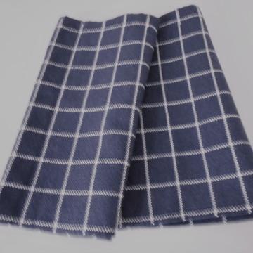 Tecido de Lã Azul Escuro e Cru