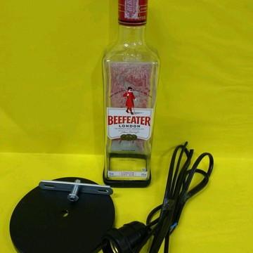 Luminária pendente artesanal garrafa Beefeater