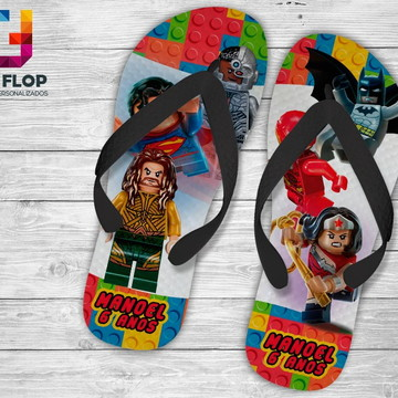 CHINELO PERSONALIZADO SUPER HEROIS LEGO