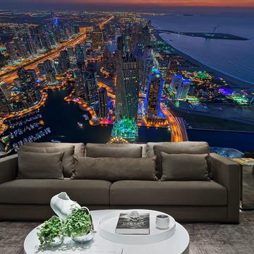 Papel de Parede Cidade Dubai 0001 - Adesivo de Parede