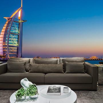 Papel de Parede Cidade Dubai 0002 - Adesivo de Parede