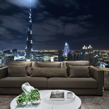 Papel de Parede Cidade Dubai 0003 - Adesivo de Parede