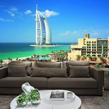 Papel de Parede Cidade Dubai 0006 - Adesivo de Parede