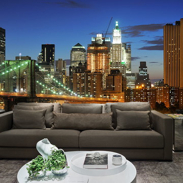 Papel de Parede Cidade Nova York 0002 - Adesivo de Parede