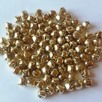 Guizo Dourado 12mm Artesanato Pet Bijuteria Kit 100 Peças