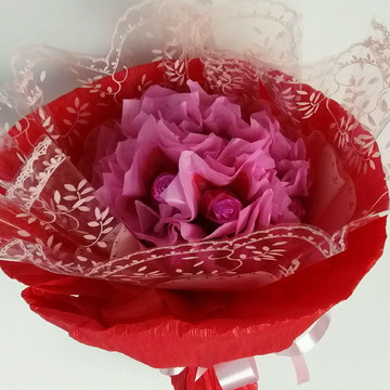 Dia das mães Buquê de rosa de chocolate