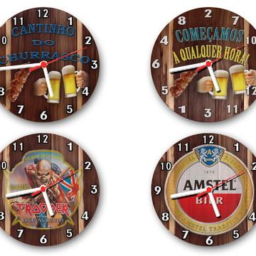 Relógios de parede estilo rustico tema bar e bebidas