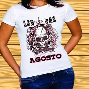 ffe59eabd Camiseta Lendas Nascem em Agosto  148