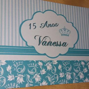 Convite 15 anos azul tiffany