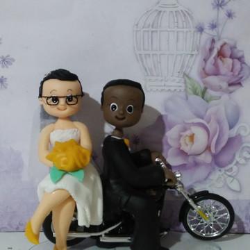 Topo de casamento na moto