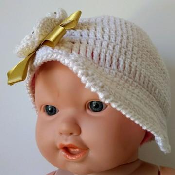 Gorro Infantil Touca Menina Chapéu (1 a 3 anos)