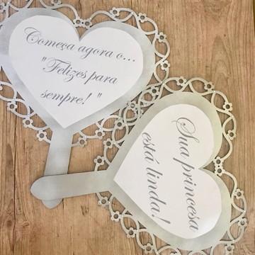 Placa decorativa entrada dos noivos
