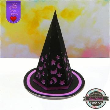 Caixa Chapéu da Bruxa Halloween
