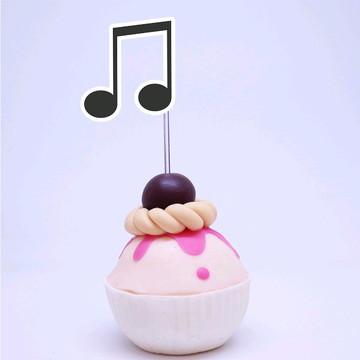 Topper para doces - notas musicais