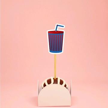Topper para doces - cinema Hollywood refrigerante