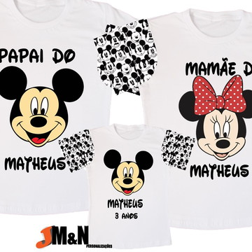 KIT camisetas família MICKEY - mãe, pai e filho(a)
