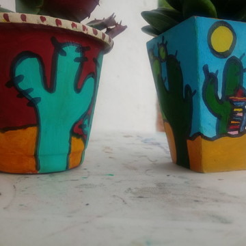 Conjunto - Vasinhos decorativos / Cactos