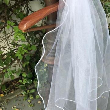 Véu de Noiva - Tule Francês Branco ou Off White