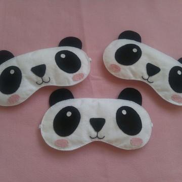 Mascara de dormir panda de feltro