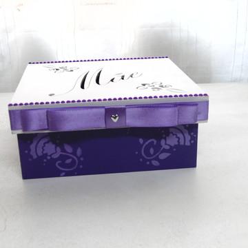 Caixa para o Dia das Mães Violeta N° 625
