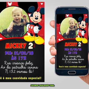 Convite Digital Mickey com foto