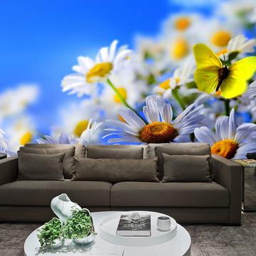 Papel de Parede para Sala 0016 - Papel de Parede de Flores