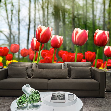 Papel de Parede para Sala 0019 - Papel de Parede de Flores