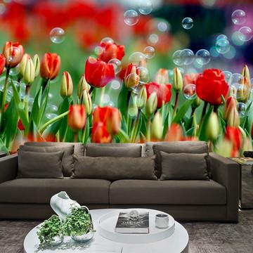 Papel de Parede para Sala 0020 - Papel de Parede de Flores