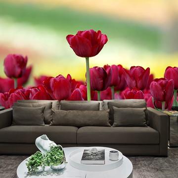 Papel de Parede para Sala 0021 - Papel de Parede de Flores