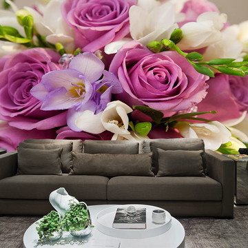 Papel de Parede para Sala 0025 - Papel de Parede de Flores